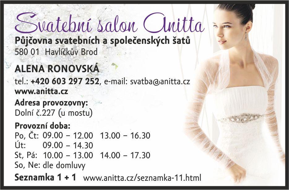 Svatebni Salon Anitta Alena Ronovska Dolni Ulice Havlickuv Brod
